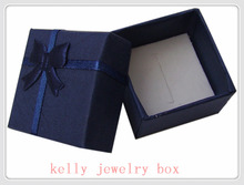 Wholesale 48pcs/lot Royal Blue Jewelry Sets Display Box Necklace Earrings Ring Box 4*4cm Packaging Gift Box