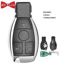 KEYECU 10PCS Smart Car Key Mercedes Benz Support NEC BGA 2000+ Year,3 Buttons 315MHz 433MHz Auto Remote Key Benz