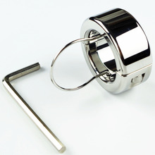 270g(9.5oz) Weights Testicle Balls Scrotum Pendant Stainless Steel Ball Stretchers Cock Ring Locking Real Men CBT Sex Product