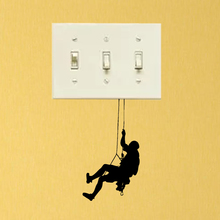 Gym Sport Climbing Vinyl Home Room Wall Decals Light Switch Stickers 5WS1473