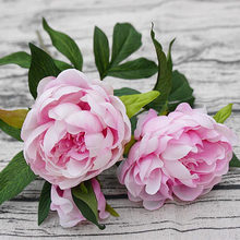 1Pc Silk Artificial Peony Flowers flores artificiais para decora o artificiales for Home wedding decoration fake Flower cheap