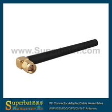 Superbat SMA Male RA Plug 2.4GHz 3dBi Omni WIFI Antenna Booster 50ohm Black for Wireless Router WLAN PCI Card Rubber Duck Aerial