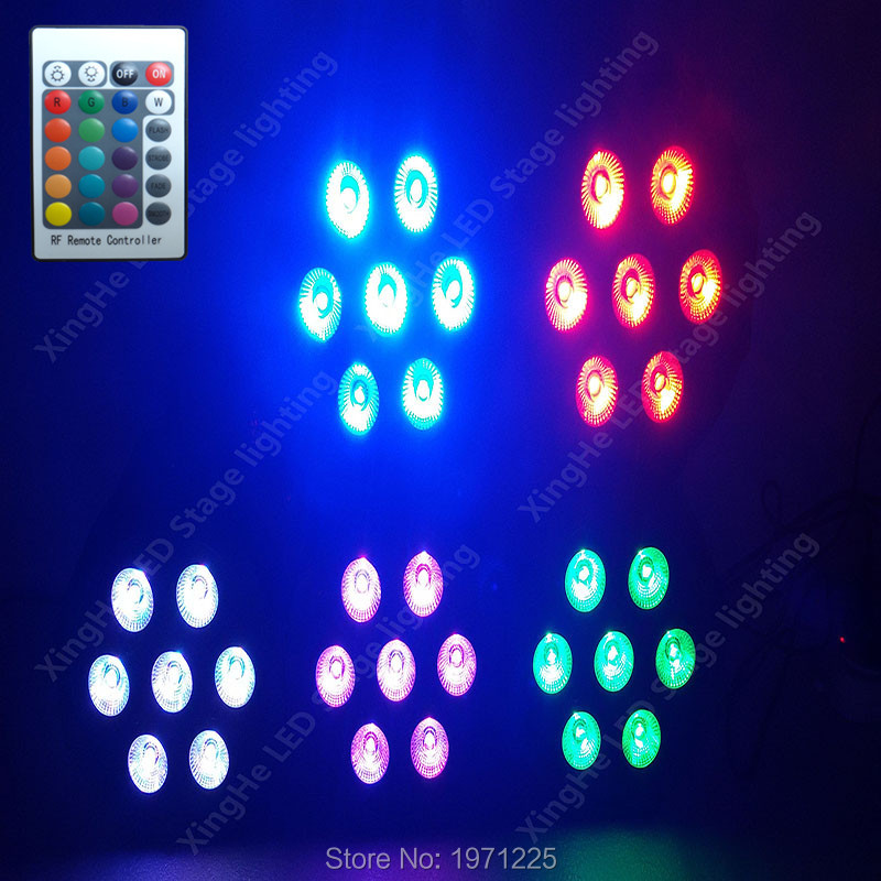 (8pcs) American DJ Wireless remote control 7x12W LED Stage Wash Uplighting Machinery<br>