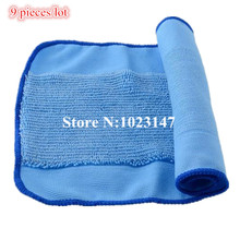 9 pieces/lot Microfiber Mopping Cloths Replacement for iRobot Braava 380 380t 320 Mint 4200 4205 5200 5200C Robot