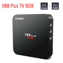 5pcs SCISHION V88 Plus Android TV Box UHD 4K 2GB 8GB Android 6.0 Media Player Quad-core Rockchip 3229 WiFi H.265 Set Top Box