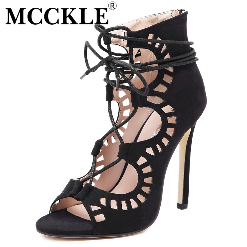 MCCKLE Women fashion Gladiator Sandals 2017 Brand Design Womens sandal Lace Up Sandals High Heels Sexy party Shoes Plus S621<br><br>Aliexpress