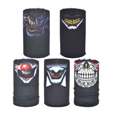 Joker smile skull face shield tube bandana 5pcs seamless bandana