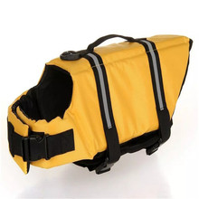 Multi Size Pet Safety Vest Dog Life Jacket for Summer Clothing Puppy Dog Pet Supplies Swimming Float Pet Vests Color Random(China)