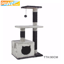Pawz Road Cat Toy Cat House Swinging the Ball Cat Furniture&Scratchers Cat Tree House Scratch Toy For Pet Kitten Jumping H90CM