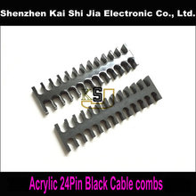 High quality Black Cable Combs for 3mm Cables - 24 Cable(China)