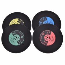 New Retro Vinyl CD Album Record Drinks Coasters Home Kitchen Bar Tableware Table Cup Placemat Skid Mat Holder