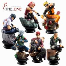 5 Pcs/Set 9cm Cartoon Naruto Sasuke Kakashi PVC Anime Action Figure Toys Kids Adult For Collection Model Gift P009(China)
