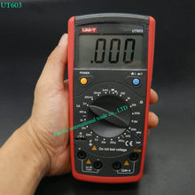 UNI-T UT603 Modern Resistance Inductance Capacitance Meters Testers LCR Meter Capacitors Ohmmeter w/hFE Test(China)
