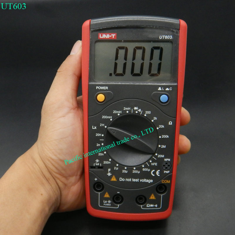 UNI-T UT603 Modern Resistance Inductance Capacitance Meters Testers LCR Meter Capacitors Ohmmeter w/hFE Test<br>