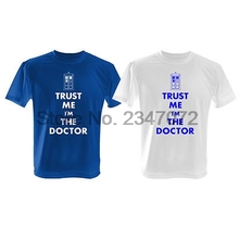 Trust me I'm THE DOCTOR - Blue T Shirt + Police Telephone Box ( Who is he?) DR