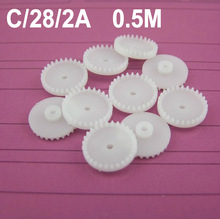 Hot sale (100pcs/lot) 0.5M plastic crown wheel gear C282A gear ship model automobile race gears  (accept retail)