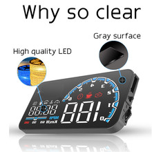 Actisafety H300 OBDII Car HUD Head Up Display Overspeed Alarm Smart Digital car Speedometer system with Switch OBD2 Cable(China)