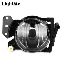 LightMe Front Bumper Fog Lamp Grille Foglight Frame for BMW E60 Durable ABS Housing Lens Designed Prevent Collision