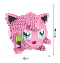 Bevle HC 9024 1605Pcs Pikachu Jigglypuff Cartoon DIY Magic Blocks Diamond Building Block Toys Compatible with Lepin
