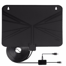 Onleny Amplified HDTV Antenna 50 Miles Range Digital Indoor US Plug TV Antenna Signal Amplifier Booster w/ 10ft Long Range Cable(China)