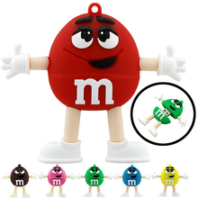 Promotion price Cute Cartoon Chocolate Bean 4gb 8gb 16gb 32gb Usb Flash Drive Pendrive Memory Stick Pen U Disk