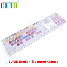 HRH Steinberg Cubase Hot key Design Keyboard Cover For Apple Keyboard with Numeric Keypad Wired USB for iMac G6 Desktop PC Wired(China)