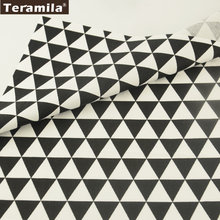 2017 Black and White Geometry Triangle Designs 100% Cotton Fabric Twill Home Textile Teramila Material Quiting Patchwork(Китай)