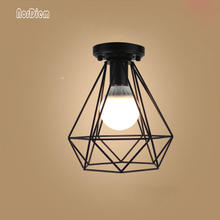 24 Kinds Vintage Ceiling Light LED Lights Retro Iron Cage Lampshade Warehouse Style Ceiling Lamp Industrial Indoor Lighting