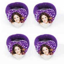 Wholesale 4pcs Music Girl violetta Cute Cartoon Princess children baby girls hair accessories rubber bands barrettes girl headwe