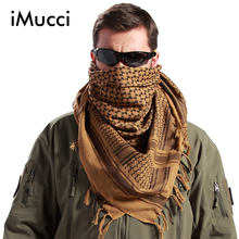 2 pieces/lot Arabic Muslim Hijab Shemagh Desert Army Tactics Scarf Thickened Windproof Keffiyeh And Dustproof Outdoor Scarves