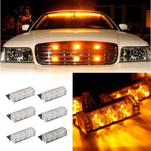 18 LED 30W Car Fog Light Emergency Vehicle Strobe Lights Car Flash Warning Lights 12V DC car styling Grille/Deck Head Lamp