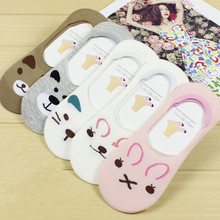 summer comfortable cotton bamboo fiber girl women's socks ankle low female invisible  color girl boy hosier 1pair=2pcs WS67