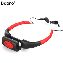 Daono 4GB Waterproof IPX8 Sports MP3 Neckband FM Radio Swimming Surfing Running MP3 Music Player with Earphones Underwater