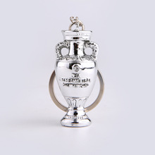 Football Fans European Football Championship cup Key Ring Fans Small Trophy Key Ring Souvenirs Replica Wholesale Keychain