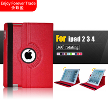 for Apple ipad 2 ipad 3 ipad 4 9.7 Tablet Case 360 Rotating Pu Leather Stand Screen Protector Cover for ipad 2 3 4 Free shipping