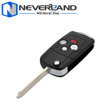 4 Buttons Folding Flip Remote Case Fob Key Shell For TOYOTA Camry Corolla Avalon 1pc High Quality Free Shipping D25(China)
