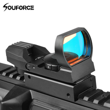 Buy Tactical Reflex Red Dot Scope Airgun Rifle sight Hunting Rail Mount 20mm Hunting Rifle Gun Airsoft Tactical Sniper for $18.49 in AliExpress store