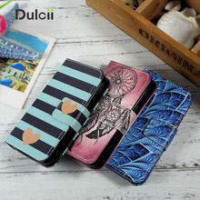 Dulcii Flip Leather Case Capa for Samsung Galaxy J1 mini Cover Pattern Design Wallet CellPhone Cases for Galaxy J1 mini Bag Case