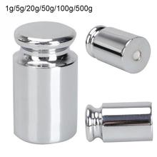 New 50g/100g/500g Gram Chrome Calibration Weight Digital Pocket Balance Scale  45 steel