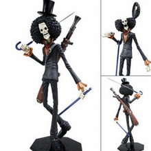 1pcs 30cm Japanese Hot Anime Cartoon One Piece Action Figures PVC Toys Doll POP Movie skull cannon Brook Free Shipping