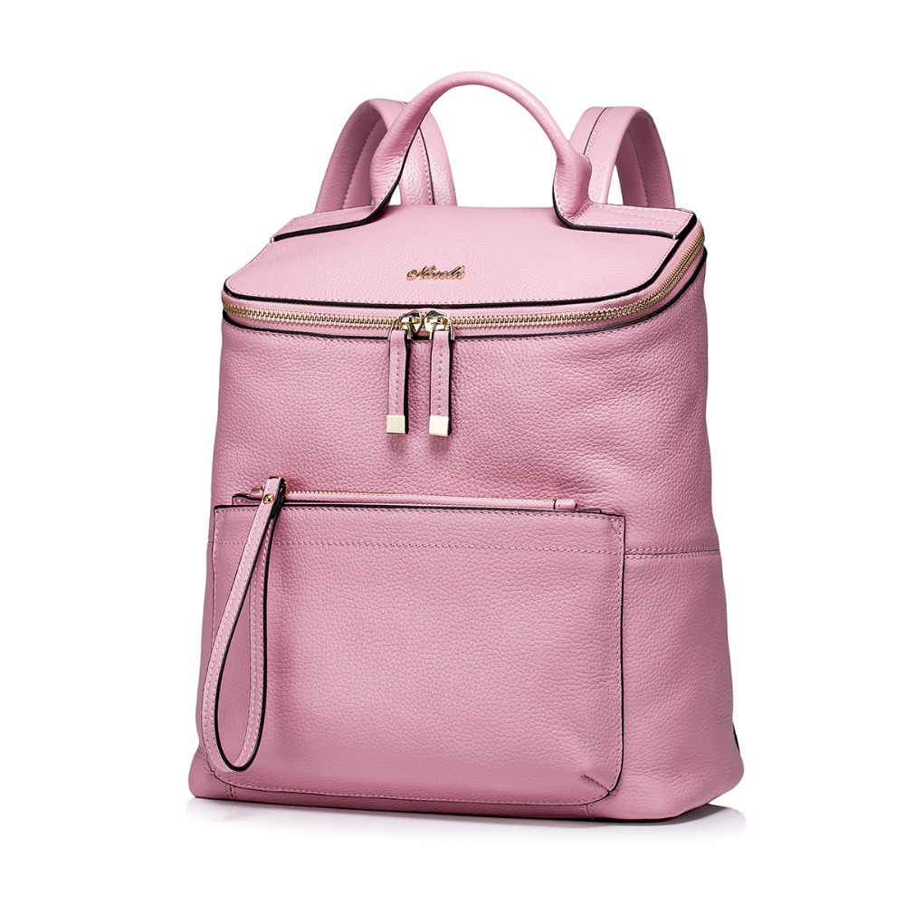 2016 New Womens Genuine Leather Travel Backpack Casual Daypack Fashion Trend School Book Bag<br><br>Aliexpress