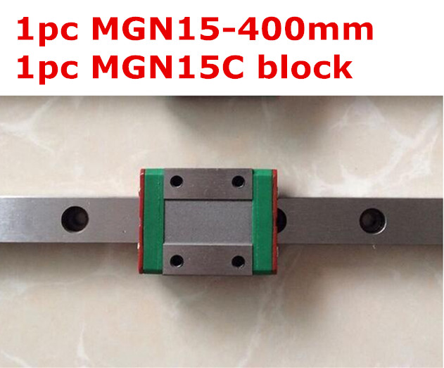 1pcs MGN15 - 400mm linear rail + 1pcs MGN15H lengthen carriage<br>