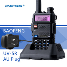 Baofeng UV-5R Portofoon Walkie Talkie AU Plug VHF UHF UV 5R 2 Way Amateur CB Radio 128CH VOX Flashlight Portable Ham Transceiver