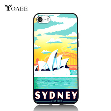 Sydney Australia Grand Theater Pop Art For iPhone 5 5s SE 6 6s 7 Plus Case TPU Phone Cases Cover Mobile Protection Decor Gift