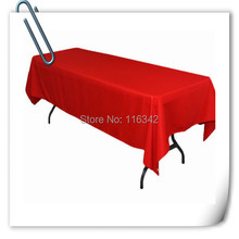 Many colors  Table Cloth Polyester 150*320cm 10PCS  Wedding Hotel Party Tablecloth Rectangular MARIOUC FREE SHIPPING