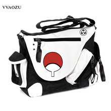 New Arrival Naruto Sasuke Uchiha Shoulder Bag Large Capacity Unisex Cosplay Crossbody Messenger Bag Canvas Travel Bags Satchel
