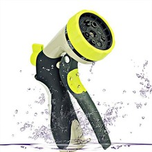 Adjustable High Pressure Water Pistol 8 Function Telescopic Pipe Squirt Gun Spray Nozzle garden/ car Applicable Water Pistol(China)
