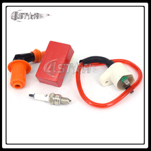 Performance CDI + Ignition Coil + Spark Plug For DIO50 GY6-125 GY6-150 BWS125 50cc 125cc 150cc Engines Motorcycle Racing Street