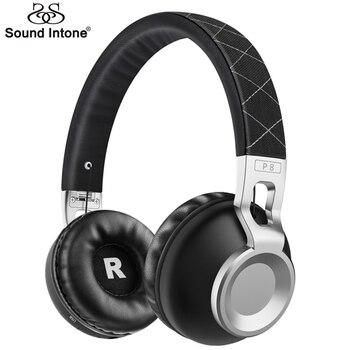 Sound Intone P8 Basse En Métal Extensible Bandeau Sans Fil Bluetooth Casque Avec Micro Soutien TF Carte Bluetooth 4.1 Casques