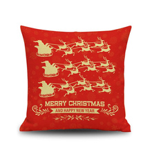 New year High quality Romantic The sled deer merry Christmas Comfortable environment Pillow Case for baby Children